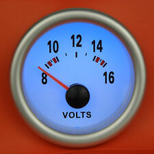 S2 52mm Volt Meter / Voltage gauge w/Blue light Skyline 300ZX Pulsar GTiR Silvia