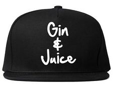 Kings Of NY Gin and Juice Printed Snapback Hat California Drinks New York City
