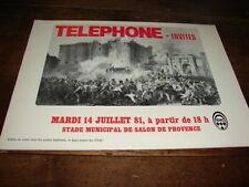 TELEPHONE - PUBLICITE STADE JUILLET 81 !! ROUGE !!!!!!!