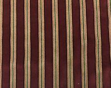 "Duralee Highland Court Geneva Stripe Mulberry Velvet Fabric 4 Yards 51""w"