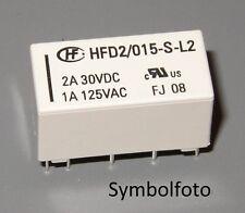 Relais bistabil 12V oder 15V, 2xUM, 3 A, Hongfa HFD2, DIP 16 Standardgröße