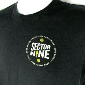Sector 9 Nine Skateboard Co Good Vibes Rides S T-Shirt Small Mens Black Skater