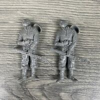 Lot Of 2 Vtg Marx Battleground Gray Army Man Shot Dead Wounded