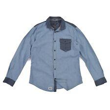ARMANI Jeans Herren Hemd M 50 blau Slim Jeanshemd langarm Oberteil Men Shirt NEU