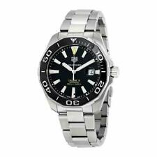 TAG HEUER AQUARACER AUTOMATIC BLACK DIAL ST.STEEL MEN'S WATCH WAY201A.BA0927 NEW