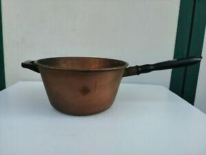 Pot Cauldron Copper Handle Wood Brand Crown 1.335 KG 56 CM