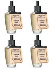 4 Bath Body Works VANILLA BIRCH Wallflower Fragrance Refill Bulbs White Barn Lot