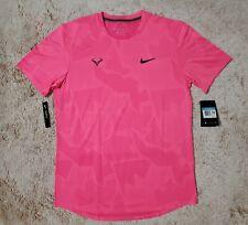 New (Men's Size Medium) Nike Rafa Aeroreact Pink Tennis T-Shirt Top (CU7916-679)