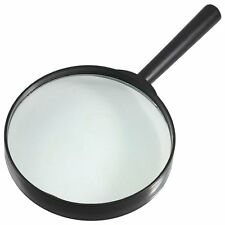 J1S9 Large 5 Diameter Magnifer Rubber Handheld Magnifying Glass 5X Lens