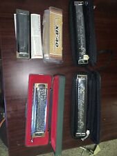 Harmonica  Hohner Xb-40 Amd 3 More, Lot Of 4!! LOOK