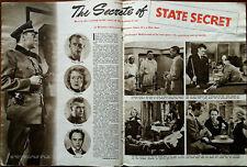 État Secret Douglas Fairbanks, Glynis Johns, Jack Hawkins Vintage Article 1950