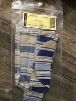 LONGABERGER JOURNAL BASKET LINER Cabana Blue Stripe -  NEW