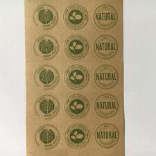 Personal natürliche Lebensmittelaufkleber Siegel Etiketten Aufnäher DIY 35*35mm