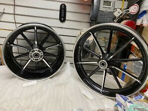 Front Rear Mag Wheels Harley Breakout FXSB 3.50x21 8x18 New T/o Chopper Softail!