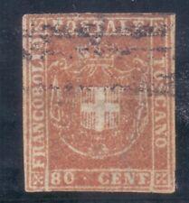 19/2.ITALY.TUSCANY,1860 # 22 80 CENTECIMI,RARE,ARMS