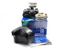 Olympus om10 35mm SLR BOXED w/ 50mm f1.8 AUTO-S Lens & Extras - Working