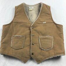 Sedgefield Sherpa Lined Corduroy Vest Coat Jacket XL Extra Large Beige Tan USA