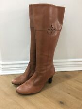 Ladies M&S Collection Brown leather boots,size 6, Hardly Worn