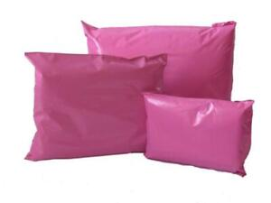 "50 LARGE 12 x 16"" PINK PLASTIC MAILING BAGS SELF SEAL POSTAGE POST SACKS - NEW"