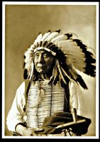 ⫸ 966 Postcard Red Cloud, Oglala Sioux Chief, D. Barry Photo 1897 - NEW
