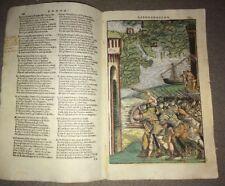 GRAVURE DU XVIéme couleurs pour l'ARIOSTE :CARTE DE L'ÉGYPTE ET DU MOYEN-ORIENT