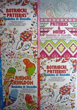 A5 Sudoku & Doodle Puzzle and Adult Stress Relief Colouring Books (4 Designs)