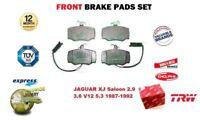 FOR JAGUAR XJ SERIES Berlina 2.9 3.6 V12 5.3 1987-1992 FRONT BRAKE PADS FULL SET