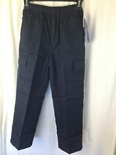 BNWT Boys Sz 10 LWR Brand Navy Blue Elastic Waist Cargo Side Pocket School Pants