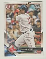 2018 Topps Bowman Holiday #TH-RD RAFAEL DEVERS RC Rookie Boston Red Sox