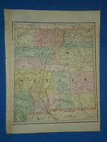 Vintage 1891 NEW MEXICO TERRITORY Old Antique Original Atlas Map 51419