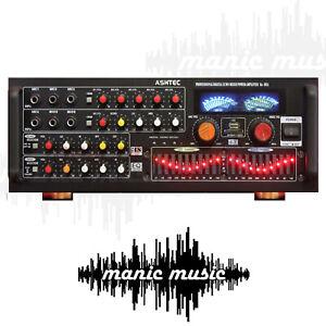 1200W Bluetooth Powered Mixer Amplifier 10 Channel Guitar Karaoke DJ 2019 Model