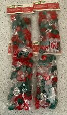 """Lot of 4 Bags Clear, Red, Green  Acrylic Shaped Gems """"Celebrate It Christmas"""""""
