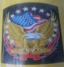 "American Eagle Blanket Fleece Usa Flag Symbol Plush Cover Very Soft 50x60"" New"