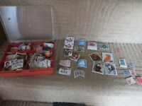 stamp collection used and unused 1980 & 1990 royal family christmas animals etc