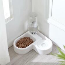 Automatic Pet Cat Bowl Dog Water Feeder Bowl Drinking Food Dish Corner-mounted