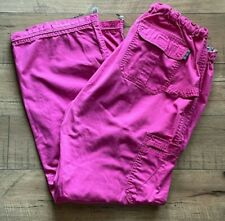 Koi By Kathy Peterson Women's Scrub Cargo Pants Size Small Pink. Comfy!