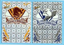 2008 CENTENERY OF RUGBY LEAGUE HOLOFOIL CLUB LOGO CARDS