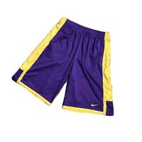 Nike Dri Fit Basketball Shorts Purple Yellow LA Lakers Mens Size Large