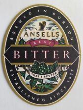 Ansells Best Bitter That's Better Brewed In Burton Est Since 1857 Coaster (B317)