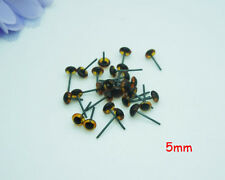 100pcs 5mm Glass Eyes On Wire Amber Color Toy Teddy Eyes Puppets Dolls Crafts