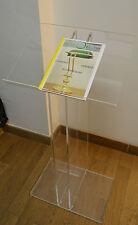 Leggio Espositore Plexiglass Trasparente 50x32x107 Design Moderno