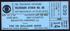 THE BEATLES REPRO 1965 THE ED SULLIVAN SHOW CBS NYC 14 AUGUST CONCERT TICKET