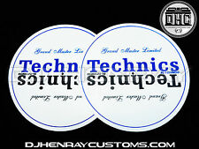 Technics Grand Master SL1210 M5G's Dj Slipmats mk2 mk3 mk5 m3d or any turntable