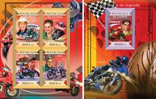 Motorcycles Bikes Motos Ducati Thompson Transport Guinea MNH stamp set