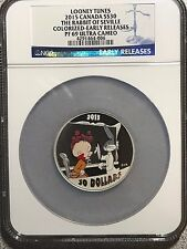2015 Canada Silver Looney Tunes Bugs Bunny EARLY RELEASES 9999 2oz Coin PF69 NGC
