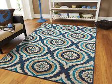 Blue Modern Large Area Rugs 8x10 Carpet Contemporary Rug 5x7 Hallway Runner 2x8