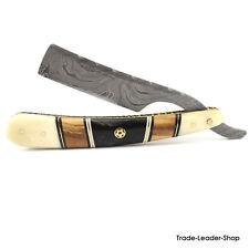 Damascus Design Rasiermesser 14 cm zum Schärfen mit Etui Barbier Rasur Razor