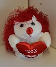 "Plush Sweet 7"" Valentine Day Red White Hedgehog Love Valentine's 100% Huggable"