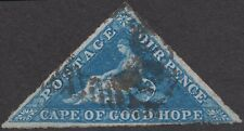 Cape of Good Hope 1855 QV 4d. Unofficially Rouletted SG 10 £2250 FU SEE DESCR.