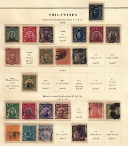 Philippines Stamp USED STAMPS ON ALBUM PAGE LOT  #1